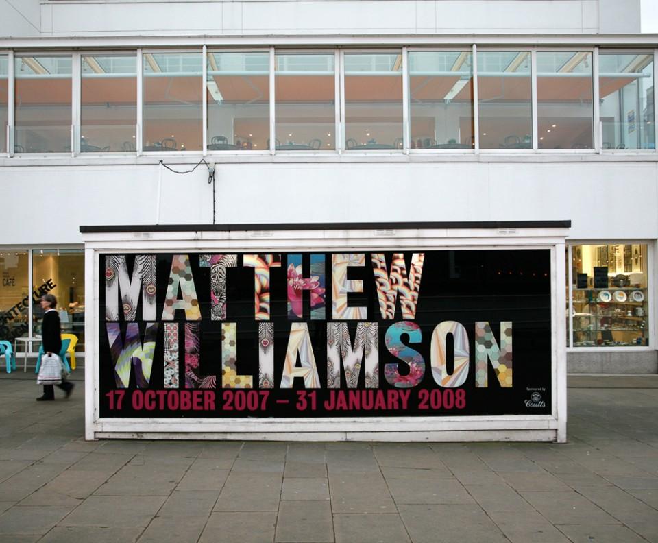 Exhibition graphics for Matthew Williamson Design Museum exhibition – Park Studio