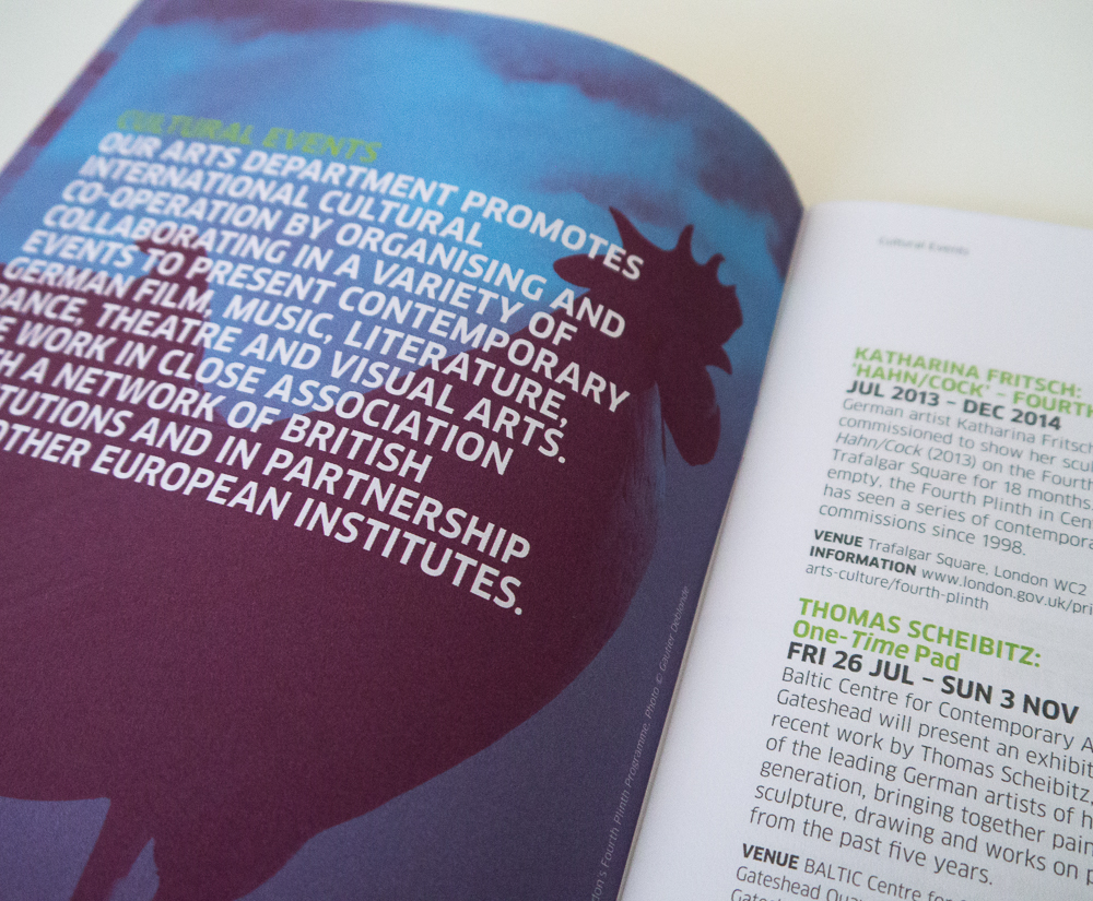 Goethe-Institut London programme of events design – Park Studio