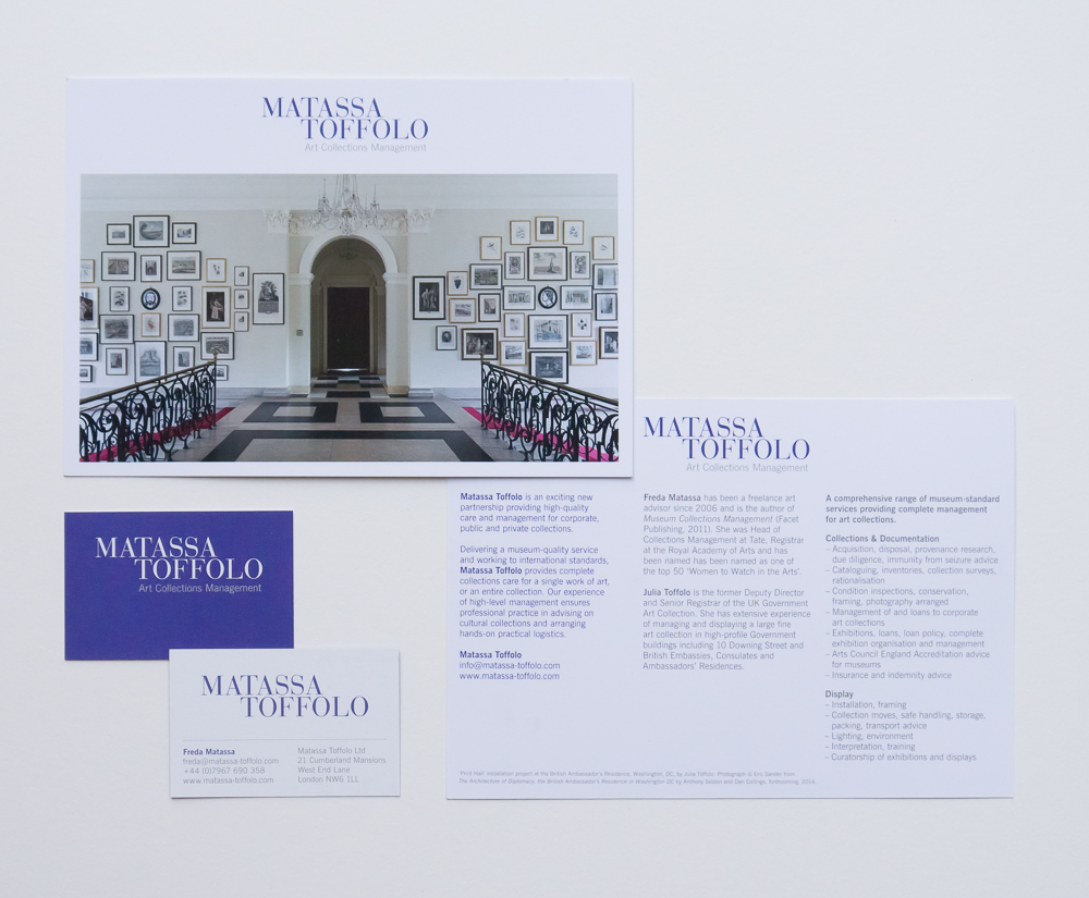 Exhibition graphics for the Government Art Collection – Park Studio