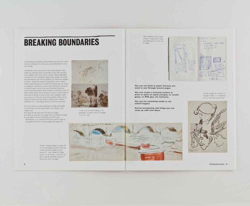Book design for Your Sketchbook Your Self – Park Studio